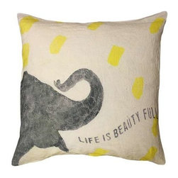 Sugarboo Designs - Life is Beauty Full Pillow - Place this adorable uplifting pillow in a bedroom, family room or eating nook. Great back support with it's down insert. The Life is Beauty Full is timeless. (SD)