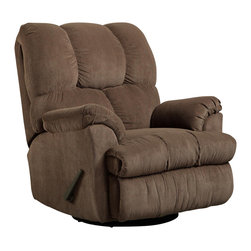 Chelsea Home Furniture - Chelsea Home Swivel Rocker Recliner in Vail Coffee - Swivel Rocker Recliner in Vail Coffee belongs to Verona IV collection by Chelsea Home Furniture.