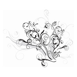 RoomMates - Forever Twined Peel & Stick Giant Wall Decal - Dress up those drab walls with this elegant graphic swirl. With its trendy combination of black and metallic silver inks, this design will seamlessly match a wide variety of teen and adult bedrooms. Application is easy: just peel and stick! Because RoomMates are completely removable and repositionable, you can adjust this design over and over until you've found your own perfect configuration.