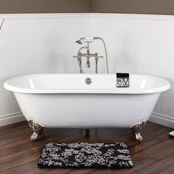 Clawfoot Bath Tub - VCTND663013NB8 - Kingston Brass Double Ended Cast Iron Clawfoot Tub