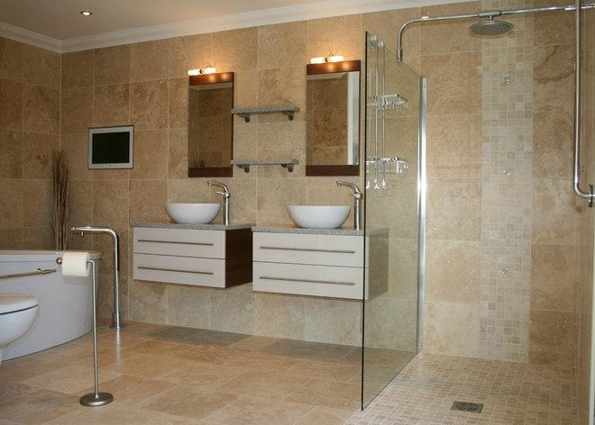 Modern Tile by Tiles Travertine Ltd