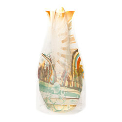 Modgy - Myvaz Expandable Flower Vase Sun City - Myvaz expandable flower vases do everything a glass vase does except collect dust, chip or break. Available in a variety of designs, myvaz expandable vases are durable and stable enough to hold a flower bouquet. These decorative vases expand with water and are ideal for events, weddings, and any table top. myvaz plastic vases are collapsible and economical, making it easy to keep a variety of colors and patterns tucked away for any occasion.