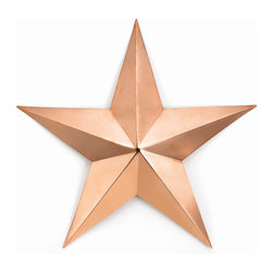 G.D. - Good Directions Copper Star-Polished Copper, Medium - Bring a little bit of heaven to your earthly home with these attractive accents. Radiant solid copper pieces of art in Sun, Moon and Star designs will add warmth and charm to the interior or exterior of any home.