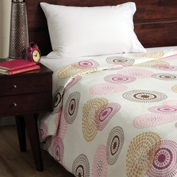 None - Cocalo Iris Twin-size Duvet Cover - This cotton duvet cover secures with a hook-and-loop closure and features a colorful print full of circles and dots to add a fun elegance to bedroom decor. Machine washable,the duvet cover is a breeze to take care of.