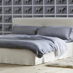 Brick 80 Bed - Upholstered knock-down bed, removable cover