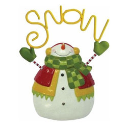 WL - Smiling Snowman Time For 'Snow' Yellow Lettering Holiday Plaque - This gorgeous Smiling Snowman Time For 'Snow' Yellow Lettering Holiday Plaque has the finest details and highest quality you will find anywhere! Smiling Snowman Time For 'Snow' Yellow Lettering Holiday Plaque is truly remarkable.