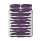Kazuyo Nomura - PAPAVER OVAL Duvet cover and pillowcase(s) - Duvet cover and pillowcase(s), lilac, white