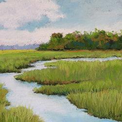 Roweboat Art Inc. - Green Marsh, Fine Art Reproduction, 48X36 - Original painting reproduction