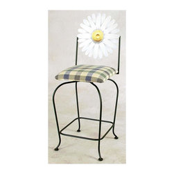 Grace Collection - Art Swivel Counter Stool - Made in USA. Seat height: 24 in.. Overall: 19 in. W x 16 in. D x 43 in. H