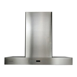 "Cavaliere - Cavaliere-Euro SV218Z Stainless Steel Wall Mount Range Hood - 42"" - Cavaliere Stainless Steel 218W Wall Mounted Range Hoods with 6 Speeds, Timer Function, LCD Keypad, Aluminum Grease Filters, and Halogen Lights."