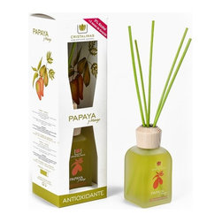 Cristalinas - Cristalinas Reed Diffuser, 100ml, Papaya and Mango - People have been using scented oils and reed diffusers for years to freshen up their homes. It's by far one of the safest ways to diffuse scented oils due to its lack of need for any direct flame or heating element. It's a time tested method of freshening up a space, and now you're welcome to bring that same factor into your own home or office! Cristalinas is at it again with their Reed Diffuser sets, five fantastic scents to bring a little something special to the living space of your choice. There's the stimulating Jasmine, the warmth of Blackberries, soothing Lavender, sweet and fruity Orange Blossom, and the calm floral fragrance of White Flowers.