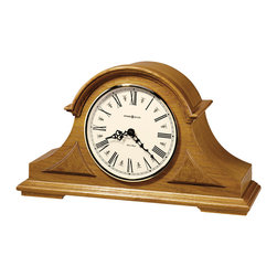 Howard Miller - Howard Miller Golden Oak Triple Chime Mantel Clock | Burton - 635106 Burton