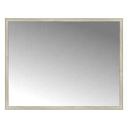 """Posters 2 Prints, LLC - 71"""" x 55"""" Libretto Antique Silver Custom Framed Mirror - 71"""" x 55"""" Custom Framed Mirror made by Posters 2 Prints. Standard glass with unrivaled selection of crafted mirror frames.  Protected with category II safety backing to keep glass fragments together should the mirror be accidentally broken.  Safe arrival guaranteed.  Made in the United States of America"""