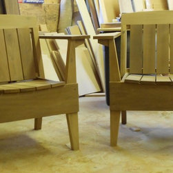 Outdoor furniture - Modern outdoor chairs woods available in: teak,mahogany,cypress, and these are Cambia a thermally treated lumber