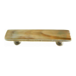 Uneek Glass Fusions - Stone Glass Art Glass Drawer Pull - Collection: Liscio