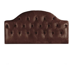 Ballard Designs - Camden Tufted Leather Headboard - Three leather color choices. Swatches available. Available in two sizes. Imported. We re-imagined our popular Camden Tufted Headboard in supple top-grain leather. The solid wood frame is generously padded and hand upholstered with deep, self-covered button tufts that give it a richly tailored look. Camden Tufted Leather Headboard features: . . . .