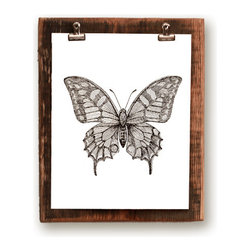 """Clip Picture Frame on Reclaimed Wood, Large - This picture frame is a unique spin on a classic piece of home decor. Easy to switch pictures in and out, just unclip the old photo and slip a new one in. Frames come in 2 sizes. The small frame is made to fit 4x6"""" photos and the large frame is made to fit 8x10"""" photos."""