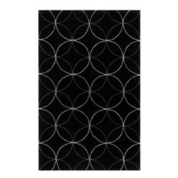 Surya - Cosmopolitan Black Rug - Great contemporary designs with a bright color palette and a price in reach of every buyer. Hand Tufted from acrylic fibers, these rugs will not shed. This is a beautiful addition to any d cor. Features: -Technique: Tufted.-Material: 100% Poly-Acrylic.-With a dry cotton towel or white paper towel, blot out stain as much as possible..-Scrape off any food or debris with a dull instrument..-Mix a very small amount of dish soap with a cup of cold water..-Bloat area with dry towel..-Fantastic and 409 can be used to remove grease and stubborn stains..-Construction: Handmade.-Color (Pantone TPX): Charcoal Gray (19-3905), Light Gray (14-4201), Coal Black (19-4007), Flint Gray (16-3802), Charcoal Gray (18-0403).-Collection: Cosmopolitan.-Distressed: No.-Collection: Cosmopolitan.Dimensions: -Pile Height: 0.63''.-Overall Dimensions: 36-132'' Height x 24-96'' Width x 0.63'' Depth.-Overall Product Weight: 5-66lbs.