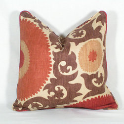 Suzani Pillow Cover by Jennifer Farley Designs - I got really excited when I came across this Suzani pillow in lovely fall colors!