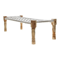 Woven Daybed - I've been lusting after this daybed for months now. Its spunky silver weave complements the raw wood so well. This could go in so many different style homes. I just love it.