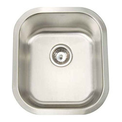 Artisan Manufacturing - Artisan 18-Gauge 15-1/2 x 17 3/4 x 8 Bar Sink - MH1618-D8 Artisan Manufacturing Manhattan Rectangular Undermount 18 Gauge Bar Sink