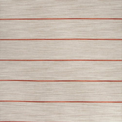 Jaipur Rugs - Flat-Weave Stripe Pattern Wool Gray/Red Area Rug - Fashion-forward color and a soft texture highlight the relaxed sophistication of the Coastal Living� Dhurries Collection. Ideal for any casual lifestyle, the boldly striped, flat-woven pieces are easily cleaned - ideal for lounging after a day spent at the beach. Origin: India