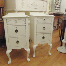 Eclectic Nightstands And Bedside Tables by Donna Thomas Vintage Chic Furniture