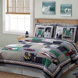 None - Surfing USA 3-piece Quilt Set - The Surfing USA quilt set is a beautiful addition to any bedroom decor. Constructed of cotton fabric and cotton fill, the quilt features a hand-crafted patchwork pattern in a multicolored finish. It is rewashed fort a heirloom feel and soft texture.
