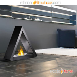 Free Standing Ethanol Fireplaces - Moda Flame Burgos Free Standing Floor Indoor Outdoor Ethanol Fireplace