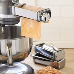 KitchenAid Pasta Roller and Cutter Set - We love the pasta machine add-on for our KitchenAid stand mixer, super functional and no cranking by hand! Adding extra functions for the stand mixer is just plain smart.