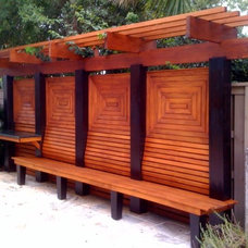 Eclectic Outdoor Benches by Garden Room Landscape Design, Inc.