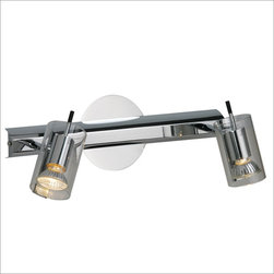 ET2 E22026-18 Flash 2 Light Vanity - This striking modern vanity light keeps thing minimal while giving you the light you need to put on your face.