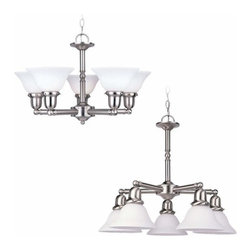 Sea Gull Lighting - 5-Light Chandelier Brushed Nickel - 39062BLE-962 Sea Gull Lighting Sussex 5-Light Chandelier with a Brushed Nickel Finish