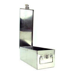 Trademark Tools - Stalwart 12-inch Oversized Metal Storage Lock Box - Keep your important papers,money,and jewelry safe by locking it in this storage lock box. This metal box is sturdy,durable,and difficult to open when locked. This thin box is easy to hide,so use it to keep dangerous or valuable items out of reach.