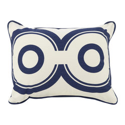 "13"" x17"" Wheels Pillow, Cobalt Blue"