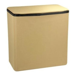 Household Essentials - Rectangle Laundry Hamper, Tan with Black Trim - Our Tan Rectangular Laundry Hamper with Lid is compact and organizes laundry in any room in your home. Made of Polyesterester, the hamper is durable and easy-to-clean. Being lightweight it easily transports your laundry anywhere and is designed to fit in any closet. The neutral look of this sturdy hamper blends in any decor and is the perfect solution for all your laundry needs.