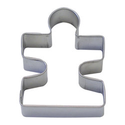 """RM - Puzzle Piece Tin Cookie Cutter 3.25"""" B0865 - Puzzle cookie cutter, made of sturdy tin, Size 3.25"""" X 2.5"""". Depth 7/8 in., Color silver"""