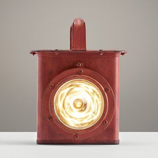 Industrial Carriage Lantern Distressed Red Industrial Carriage Lantern Distresse