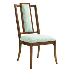 Lexington - Tommy Bahama Home Bali Hai St. Barts Splat Back Side Chair - As comfortable as it is stylish, this dining chair features an upholstered seat and back splat and can use a customer's own material, any Lexingngton Upholstery fabric or a combination of any two fabrics. It is shown here in a textured coral pattern, fabric 4106-21.