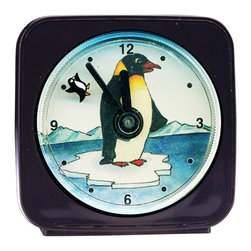 Penguin Alarm Clock - Penguin Alarm Clock by artist Pamela Corwin. Buy unique wall clocks, travel alarm clocks, decorative refrigerator magnets, and night lights online, at Seattle's Pike Place Market or at a local retailer.