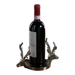 Zodax - Double Head Reindeer Pillar Holder / Wine Coaster by Zodax - Double Head Reindeer Pillar Holder / Wine Coaster by Zodax