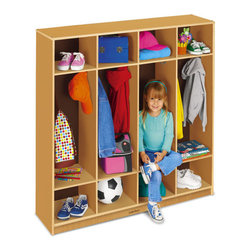 Classic Birch Coat Lockers - Give the kids a place for everything to keep it off the floor.