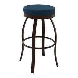 Amisco - Amisco Swan Backless Swivel Stool 42496, 30 Inches (Bar Height) - *Swivel seat