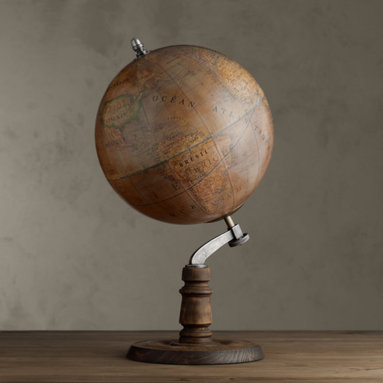 1949 French Library Globe -