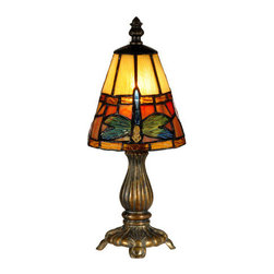 Dale Tiffany - Dale Tiffany TA13005 Cavan Tiffany 1 Light Accent Table Lamp - Features: