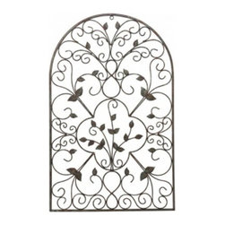 Gardman USA - Spanish Wall Art Antique Rust - Spanish Wall Art Antique Rust - Spanish wall art antique rust. This lovely steel arch evokes some of the classic architecture of Spain with curved and scrolled metalwork and small leaf shapes throughout it. The aged coating adds colors of brown orange and verdigris to the item for an antique look. The welded steel construction creates a durable piece which is equally beautiful in your home or garden.