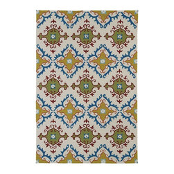 Kaleen - Indoor/Outdoor Home and Porch  3'x5' Rectangle Ivory Area Rug - The Home and Porch Collection area rug Collection offers an affordable assortment of Indoor/Outdoor stylings. Home and Porch Collection features a blend of natural Ivory color. Handmade of 100% Polypropylene the Home and Porch Collection Collection is an intriguing compliment to any decor.