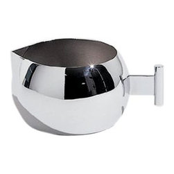 "Alessi - Alessi ""Anna"" Creamer - Creamer in 18/10 stainless steel, mirror polished. Designed by Alessandro Mendini to coordinate with the Anna sugar bowl."
