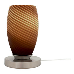 Art-Win Lighting - 8249 Handmade Glass Table Lamp - 8249 Handmade Glass Table Table Lamp. Hand-crafted item is produced in Europe with care. Fine handmade contemporary lighting fixtures that require years of experience and specialized craftsmanship are carefully manufactured by Art-Win Lighting in its own plants.