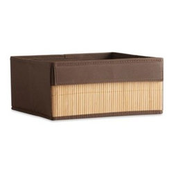Real Simple - Real Simple  Half Height Fabric Drawer with Bamboo Front - Real Simple  Fabric Drawers with Bamboo Front are compatible with all storage and system units. This half-cut drawer helps divide cube openings and create organized, separated storage compartments.